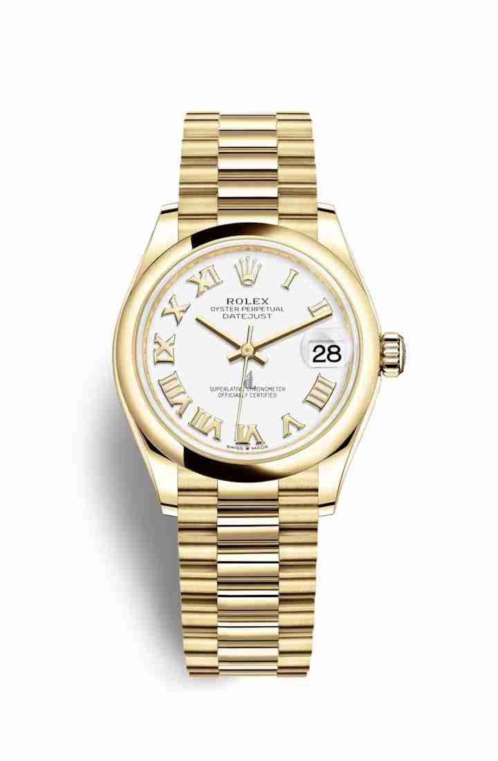 Rolex Datejust 31 yellow gold 278248 White Dial