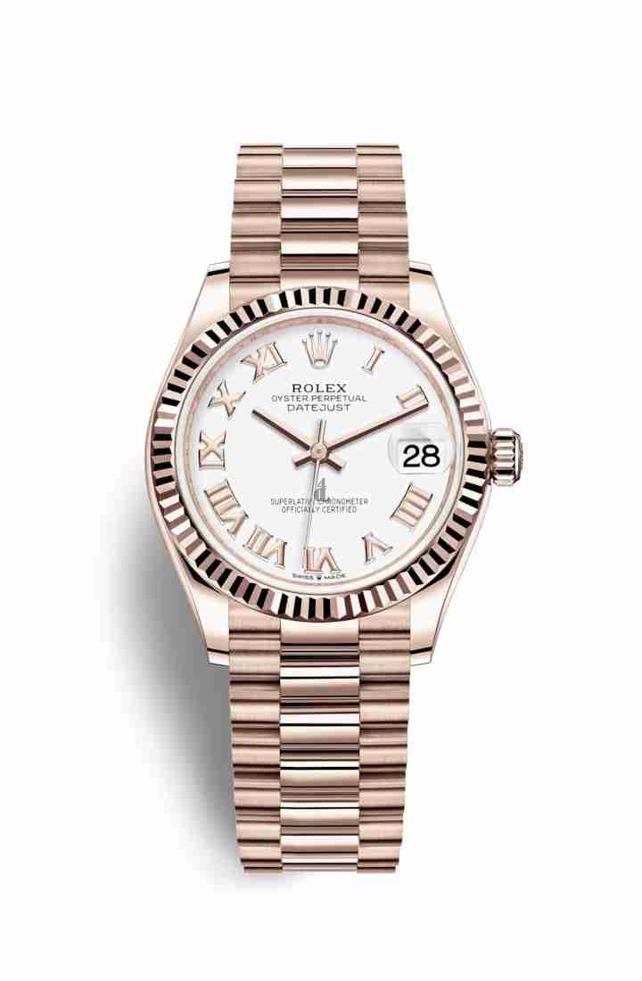 Rolex Datejust 31 Everose gold 278275 White Dial