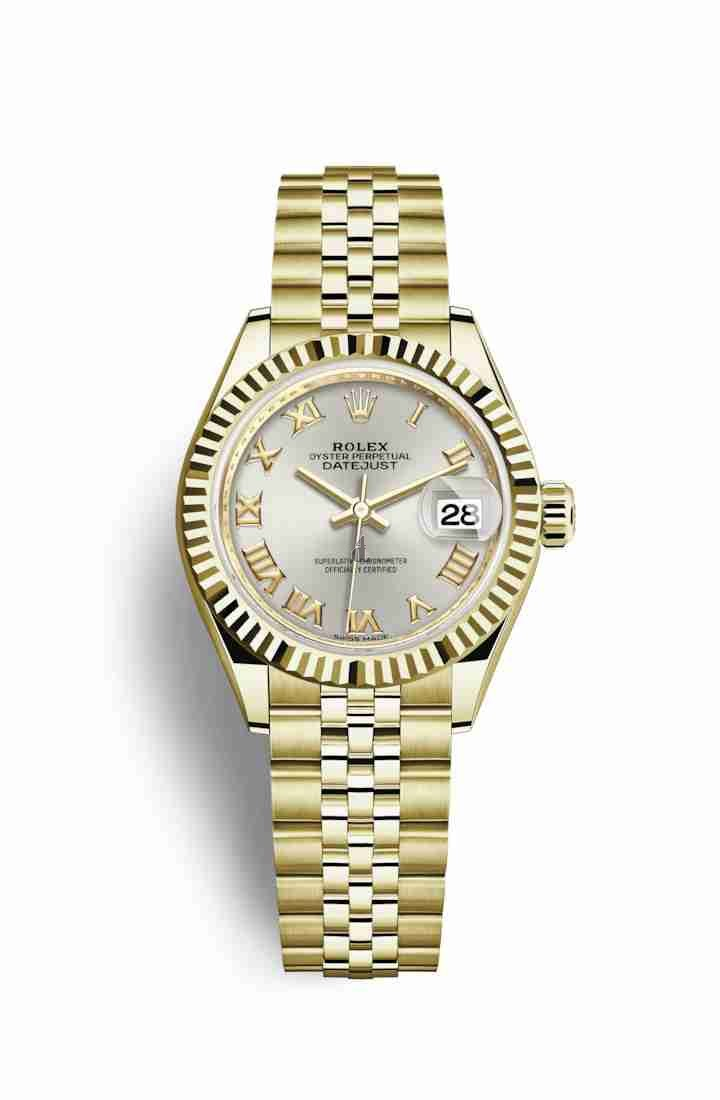 Rolex Datejust 28 yellow gold 279178 Silver Dial