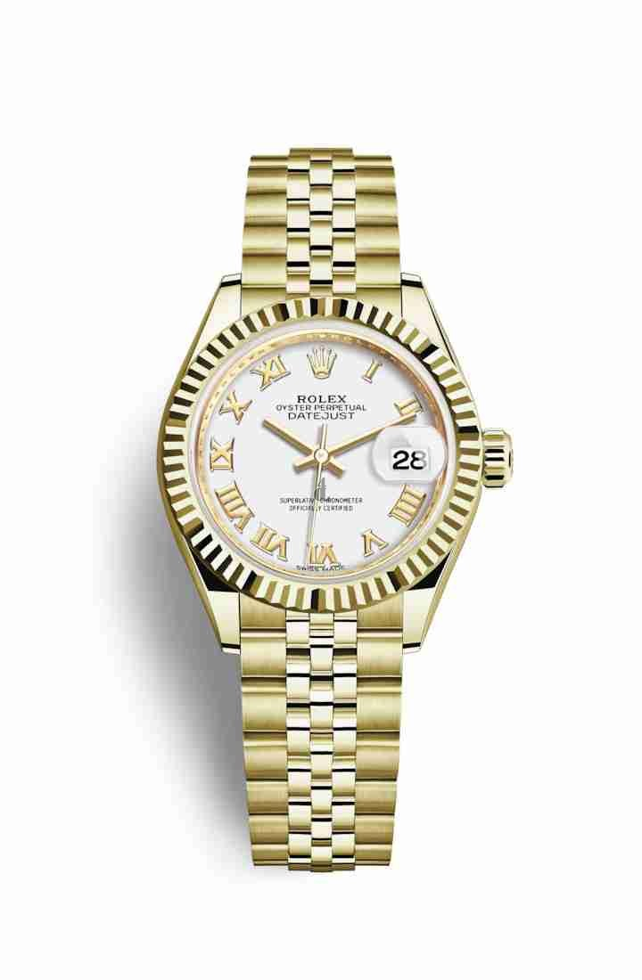 Rolex Datejust 28 yellow gold 279178 White Dial