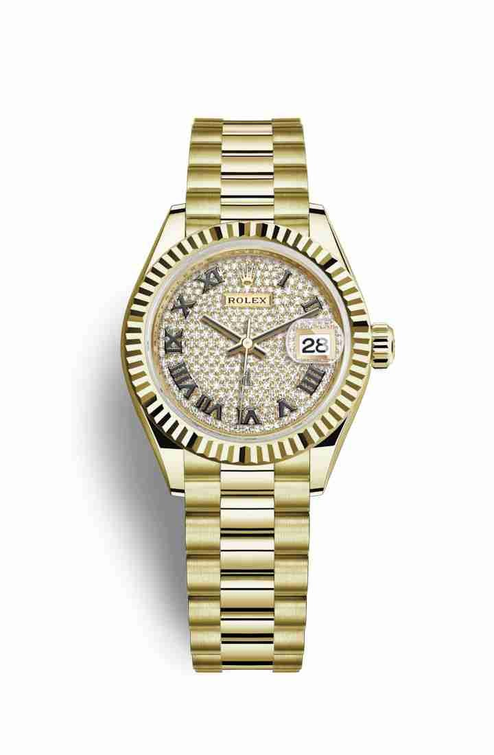 Rolex Datejust 28 yellow gold 279178 Diamond-paved Dial