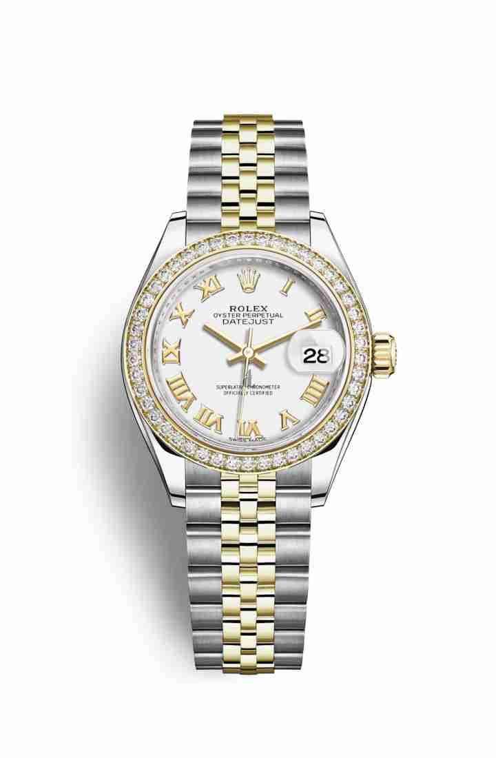 Rolex Datejust 28 Yellow Rolesor Oystersteel yellow gold 279383RBR White Dial