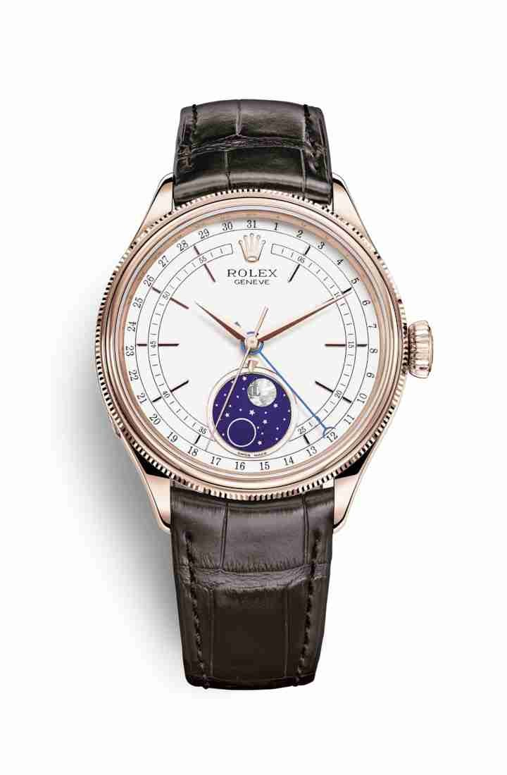 Rolex Cellini Moonphase Everose gold 50535 White Dial