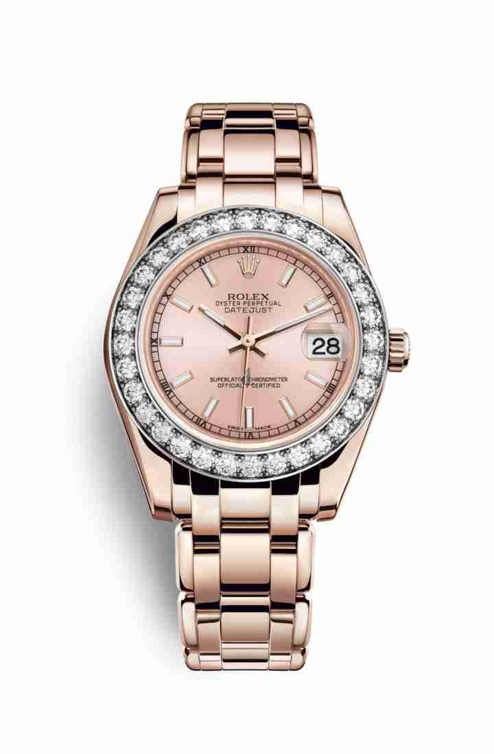 Rolex Pearlmaster 34 Everose gold 81285 Pink Dial