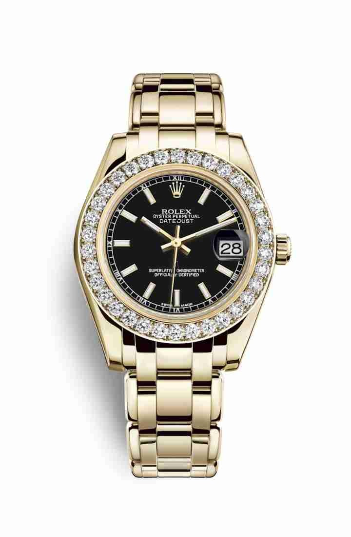 Rolex Pearlmaster 34 yellow gold 81298 Black Dial