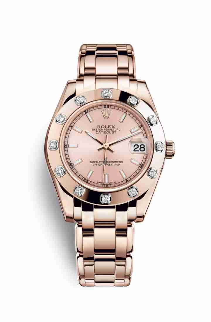 Rolex Pearlmaster 34 Everose gold 81315 Pink Dial
