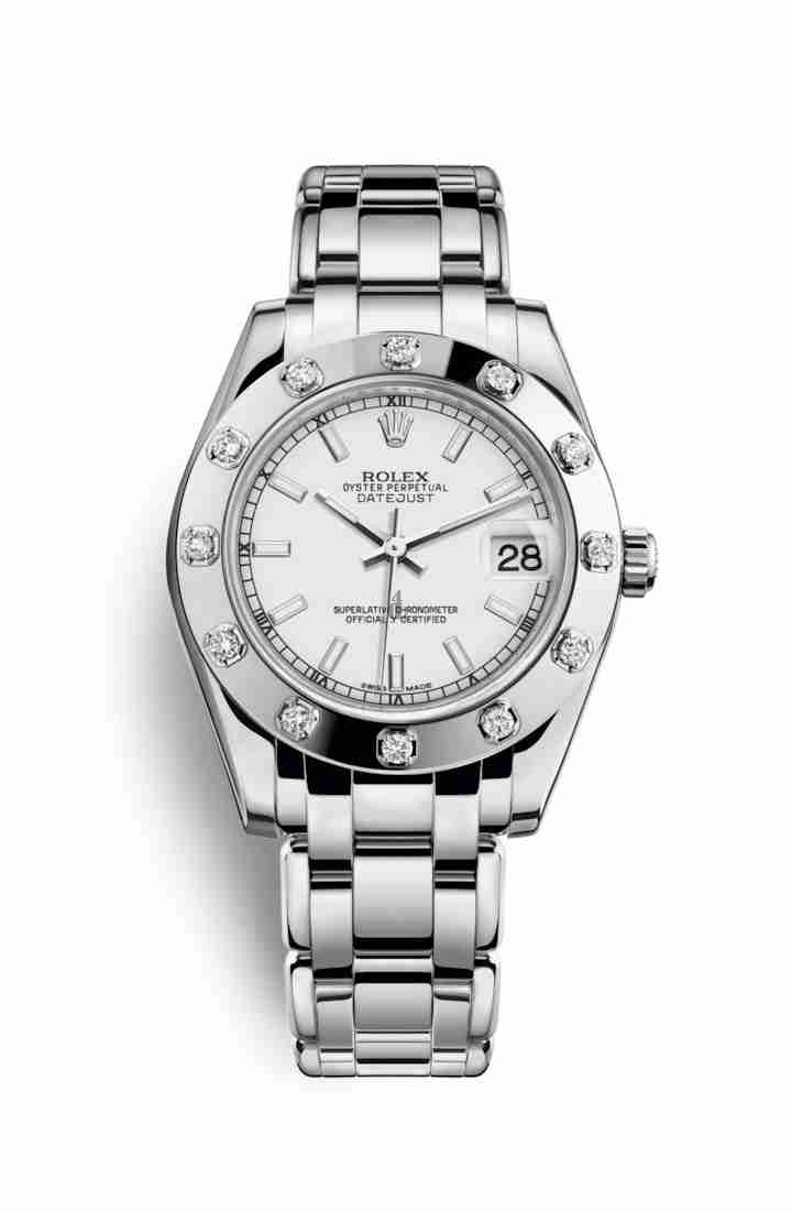 Rolex Pearlmaster 34 white gold 81319 White Dial