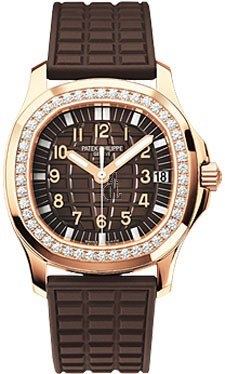 Fake Patek Philippe Aquanaut Luce 18kt Rose Gold Diamond Case Automatic Ladies Watch 5068R