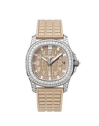 Fake Patek Philippe Aquanaut Luce Haute Joaillerie Honey Beige Ladies Watch 5069G-020