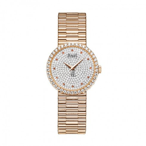 Piaget Traditional Diamond Pave Garnet Ladies Replica Watch G0A37044