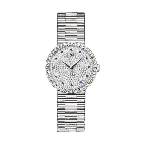 Piaget Traditional Diamond Pave Sapphire Ladies Replica Watch G0A37043