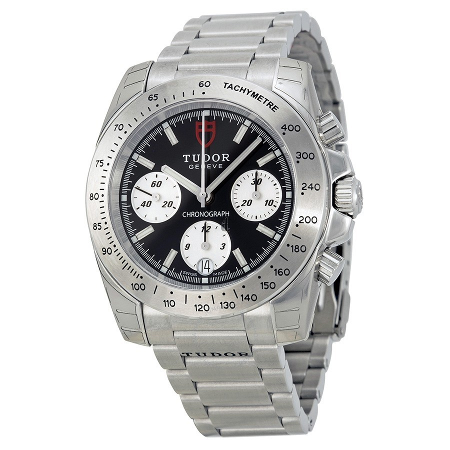 Tudor Chronograph Black Dial Stainless Steel Watch 20300-BKSSS Replica