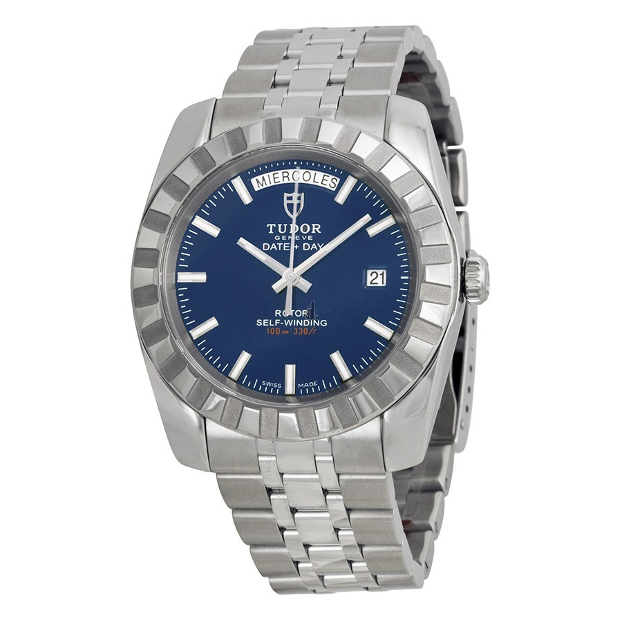 Tudor Dateand Day Classic Automatic Blue Dial Stainless Steel 23010-BLSSS Replica