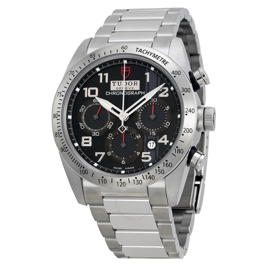 Tudor Fastrider Chronograph Black Dial Stainless Steel 42000-95730 Replica