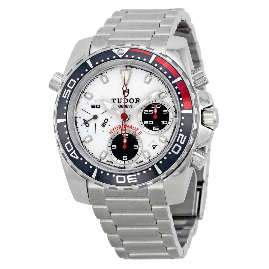 Tudor HydronautII Chronograph White Dial Stainless Steel 20360N-WSSS Replica
