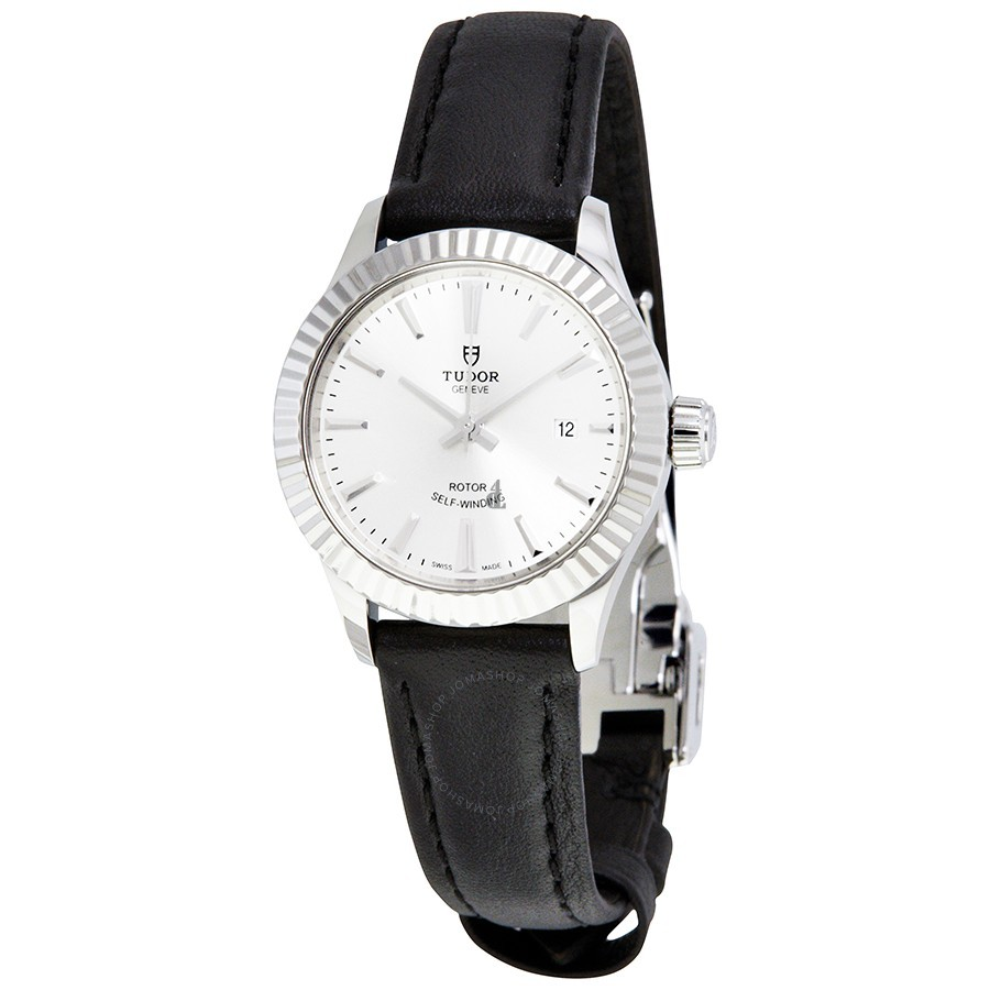 Tudor Style Automatic Silver Dial Ladies Watch 12110-SVLS Replica