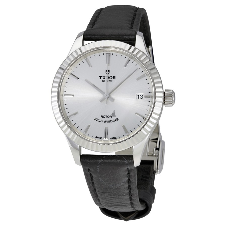 Tudor Style Silver Dial Automatic Ladies Watch 12310-SVLS Replica
