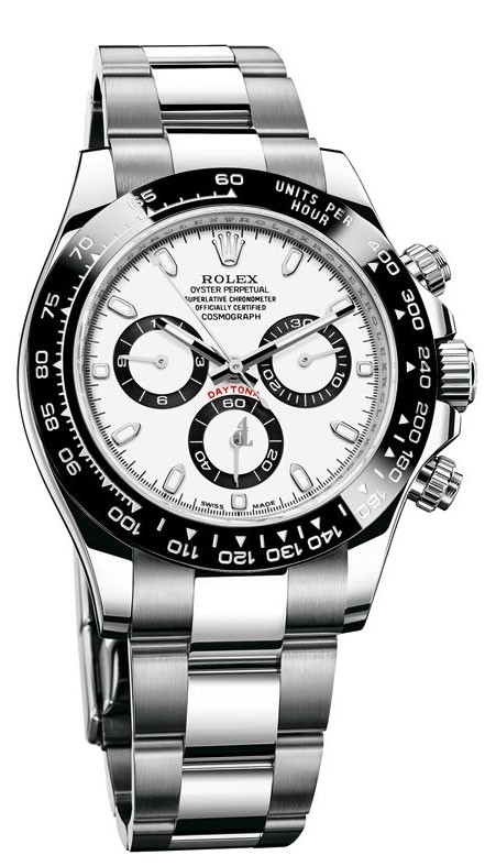 imitation Rolex Cosmograph Daytona 116500WSO White Dial Stainless Steel Oyster Watch