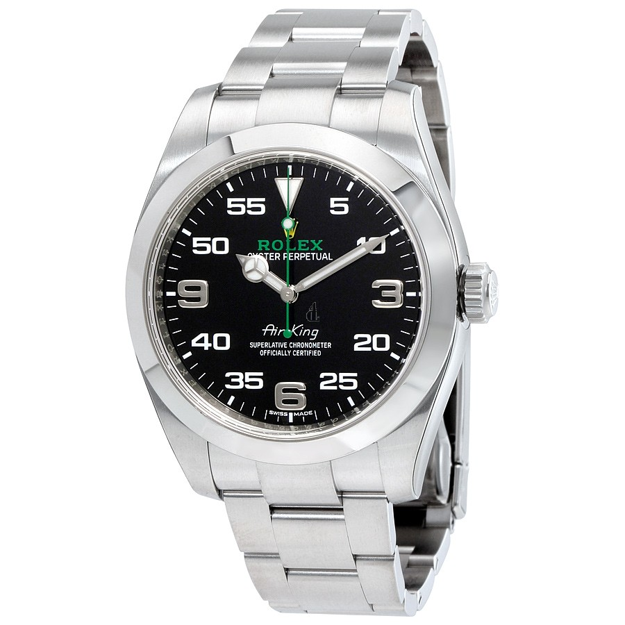 imitation Rolex Air King 116900BKAO Black Dial Stainless Steel Watch