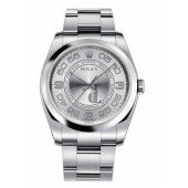 Fake Rolex Oyster Perpetual No Date Stainless Steel Silver dial 116000 SAO.