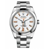 Fake Rolex Milgauss Stainless Steel White dial 116400 WO.