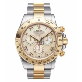 Fake Rolex Daytona Steel and Gold Yellow MOP dial 116523 YM.