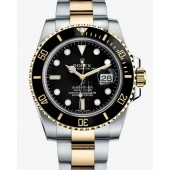 Fake Rolex Submariner Date Two Tone Black Dial 116613LN.