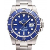 Fake Rolex Submariner Date Blue Bezel and Dial 116619LB.
