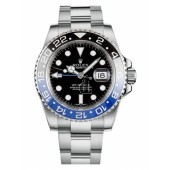 Fake Rolex GMT Master II Stainless Steel Black Dial 116710 BLNR.