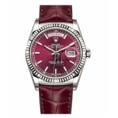 Fake Rolex Day Date White Gold Cherry Dial 118139 CHL.