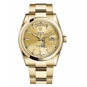 Fake Rolex Day Date Yellow Gold Champagne Dial 118208 CHSO.