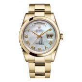 Fake Rolex Day Date Yellow Gold MOP Dial 118208 MRO.