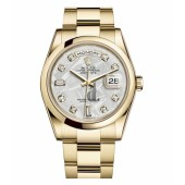 Fake Rolex Day Date Yellow Gold Meteorite Dial 118208 MTDO.