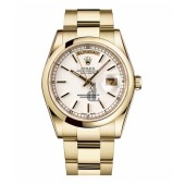 Fake Rolex Day Date Yellow Gold White Dial 118208 WSO.