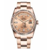 Fake Rolex Day Date Pink Gold Pink champagne dial 118235 CHDO.