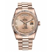 Fake Rolex Day Date Pink Gold Champagne dial 118235 CHRP.