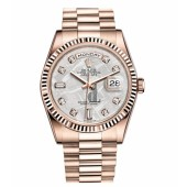 Fake Rolex Day Date Pink Gold Meteorite dial 118235 MTDP.
