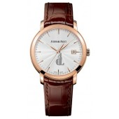 Replica Audemars Piguet Jules Audemars Silver Dial 18kt Rose Gold Men's Watch 0
