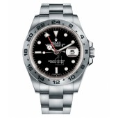 Fake Rolex Explorer II Stainless Steel Black dial 16570 BK.