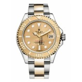 Fake Rolex Yacht-Master Stainless Steel and Yellow Gold Champagne dial 16623 CH.