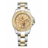 Fake Rolex Yacht-Master Stainless Steel Champagne dial Ladies Watch 169623 CH.