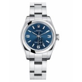 Fake Rolex Oyster Perpetual No Date Stainless Steel Blue dial Ladies watch 176200 BLAIO.