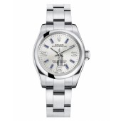 Fake Rolex Oyster Perpetual No Date Stainless Steel Silver dial Ladies watch 176200 SABLIO.