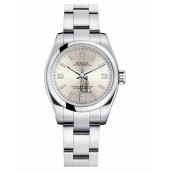 Fake Rolex Oyster Perpetual No Date Stainless Steel Silver dial Ladies watch 176200 SAPIO.