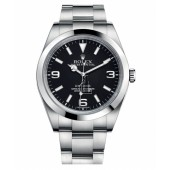 Fake Rolex Explorer Stainless Steel Black dial 214270.