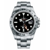 Fake Rolex Explorer II Stainless Steel Black dial 216570 BK .