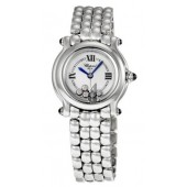 Imitation Chopard Happy Sport Diamond Ladies Watch