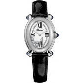 Imitation Chopard Happy Sport Oval 5 Floating Diamonds Ladies Watch
