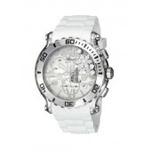 Imitation Chopard Happy Sport Round White Diamond Snow Dial Ladies Watch