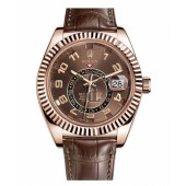 Fake Rolex Sky Dweller Everose Gold Watch 326135.